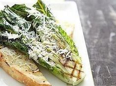 Grilled Caesar Salad ~~~ This presentation is nothing short of cool. We loved the dressing in general, but it really stands out when paired with the unique flavor of the grilled romaine lettuce. Grilled Romaine Hearts, Grilled Romaine Lettuce, Grilled Caesar Salad Recipe, Salad Recipes, Healthy Recipes, Ceasar Salad, Barbecue Recipes, Grilling Recipes, Bbq