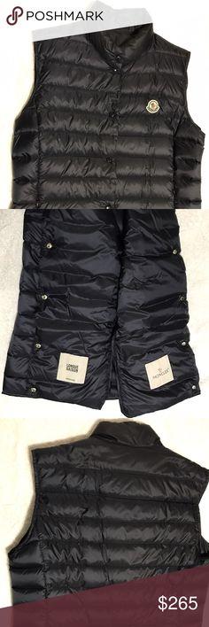 moncler striped technical menuire mens jacket black short