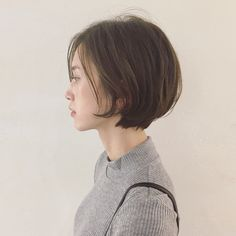 Asian Short Hair, Asian Hair, Girl Short Hair, Short Hair Cuts, Love Hair, Great Hair, Short Bob Hairstyles, Pretty Hairstyles, Curly Hair Styles