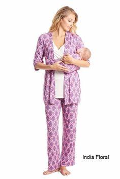 c05711dc03c7 Everly Grey Roxanne 5 PC Mom   Baby Maternity Nursing Pajama Set - India  Floral - X-Small