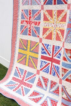 Union Jack Quilt (close up)oh my goodness oh my goodness @Ariel Shatz White