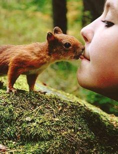 Feedin' a squirrel