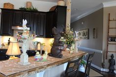 Designs by Pinky: Easter Breakfast Bar Easter 2018, Easter Celebration, Easter Decor, Celebrations, Bar, Breakfast, Spring, Table, Furniture