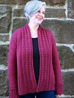 Peverly is a free cardigan knitting pattern made with Berroco Catena. This stylish jacket knits up quickly on big needles. Download the pattern at Berroco.com.
