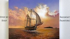 STEP by STEP Sailboat Acrylic Painting (ColorbyFeliks) - YouTube