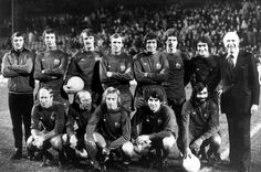 1975: Old boys' reunion - Stiles joins fellow Manchester United heroes for Paddy Crerand's testimonial against the 1975 first team
