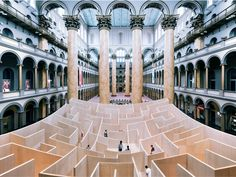 Bjarke Ingels' BIG Maze National Building Museum [2500 x 1875] via Classy Bro