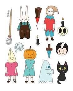 13 Vinyl Halloween stickers by elebea on Etsy, $3.00