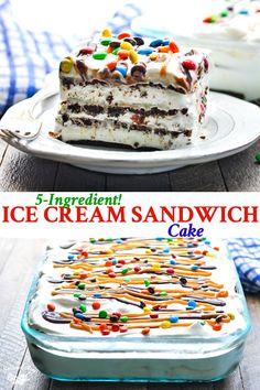 No Bake Summer Desserts, 13 Desserts, Ice Cream Desserts, Frozen Desserts, Ice Cream Recipes, Delicious Desserts, Ice Cream Cupcakes, Ice Cream Pies, Dessert Healthy