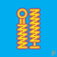 YOLO - 그래픽 디자인, 타이포그래피 Typographic Design, Typography Logo, Graphic Design Typography, Lettering, Logos, Korea Logo, Olive Young, Type Posters, Green Logo