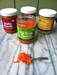 Firefly Kitchens kraut varieties. (Photo credit: Craving4more.com).