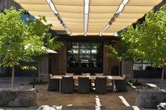 Must-Visit Napa Winery: Kenzo Estate Winery Tasting Room, Trellis, Pergola, Outdoor Structures, Tours, Architects, Outdoor Decor, Kitchen Ideas, Bakken