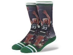 NEW STACE Larry Bird Celtics NBA Legends Green Socks Mens Size L XL (9-13) #Stance #NBA
