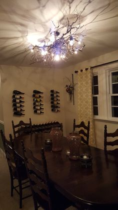 """For those of you who have seen my blog post """"Total Tease"""" about the DIY chandelier, the wait is over! I have finally finished it and I'm quite pleased with how it came out. Just…"""