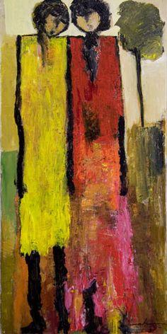 Memory of Youth, painting, Goli-Mahallati