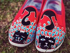 Shoesday: Paint Your Own Cat Shoes