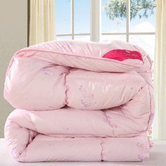 Elegant Pink Comforters For Winter Soft Wool Duvet Inset Skin Friendly Kids Comforters