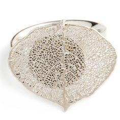 Кольцо Лист осины (серебро)