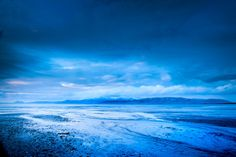 Extra large wall art- Blue Poster Print, Oversized Wall Art, Skye over water, Blue Sky Poster - Scottish Photography
