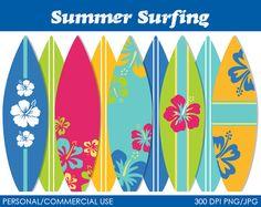 Verano surf imágenes prediseñadas gráficos del por MareeTruelove