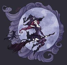 Flying Witches by IrenHorrors.deviantart.com on @DeviantArt