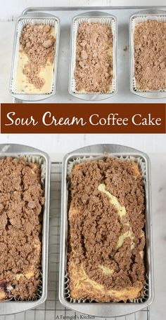 Sour Cream Coffee Cake is wonderfully moist has a delicious streusel topping and super easy to make! The post Sour Cream Coffee Cake is wonderfully moist has a delicious streusel topping a appeared first on Win Dessert. Fall Desserts, Just Desserts, Delicious Desserts, Dessert Recipes, Easy To Make Desserts, Food Cakes, Cupcake Cakes, Cupcakes, Muffin Cupcake