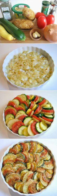 Veggie Spiral - vegetarian dish