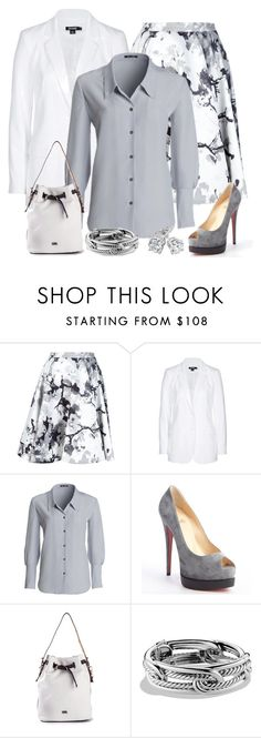 """""""Blazer and Blouse"""" by terry-tlc ❤ liked on Polyvore featuring Pierre Balmain, DKNY, NIC+ZOE, Christian Louboutin, Karl Lagerfeld, David Yurman and Reeds Jewelers"""