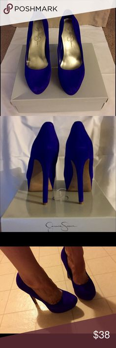 """Jessica Simpson Women's Waleo platform pump Suede 5"""" heel 1.25"""" platform Classic pump style. Although they are very high, they are also very comfortable. Worn only once to a concert, shoe is in great condition, box included.  Minor scuffs on heel and the front. Jessica Simpson Shoes Heels"""