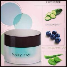 •The botanical extracts included in the product are reported to tone, firm and reduce the appearance of puffiness in the eye area. •Calm, cool and refresh a tired-looking appearance  •Increase skin moisturization up to 130%  •Hypoallergenic http://www.marykay.com/nmastoras https://www.facebook.com/nmastoras.consultant
