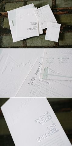 NYC Modern foil + letterpress wedding invitations | Bella Figura