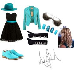 Blue by kayliegh-tw-parker on Polyvore featuring Rare London, Tod's, Gladys Tamez Millinery and ASOS