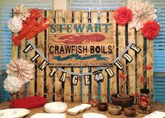Crawfish themed birthday party! www.gatheringeventscompany.com