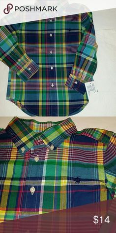 Polo Ralph Lauren boys long sleeve shirt New with tags,  I do have bundle discount, other than that all prices are firm!  No low ball offers please Polo by Ralph Lauren Shirts & Tops Button Down Shirts