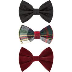 Accessorize 3 x Tartan Bow Clip Pack ($1.99) ❤ liked on Polyvore
