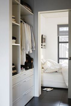 Closet space going into the bathroom Master Bedroom Closet, Bedroom Wardrobe, Wardrobe Closet, Closet Space, Cozy Bedroom, Walk In Closet Inspiration, Lets Stay Home, Closet Designs, Medan