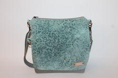 ipad bag turquise ocelot motif Faux leather bag vegan by BYildi