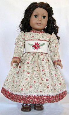 Christmas dress by dancingwithneedles on Etsy