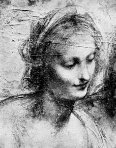 The head of the Madonna by Leonardo Da Vinci