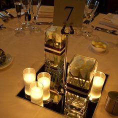 Simple wedding center pieces