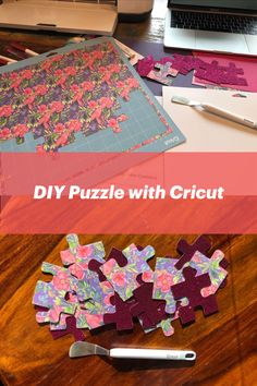 This Cricut project is easy to put together and you can customize it however you want. So many fun possibilities with this DIY puzzle using the paper you have on hand! Projects For Kids, Craft Projects, Kids Crafts, Cricut Tutorials, Cricut Ideas, Cricut Craft Room, Cricut Creations, Business For Kids, Easy Diy