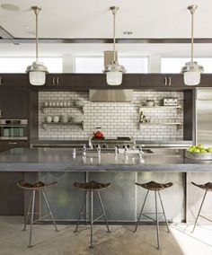 Awesome Industrial Kitchen @thedailybasics ♥♥♥
