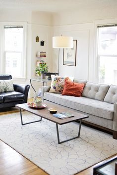 living room —Carly & Scott's Colorful Collected Apartment | Apartment Therapy