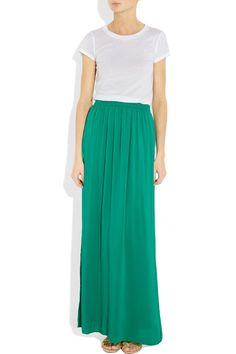 Jersey and crepe maxi dress from Splendid