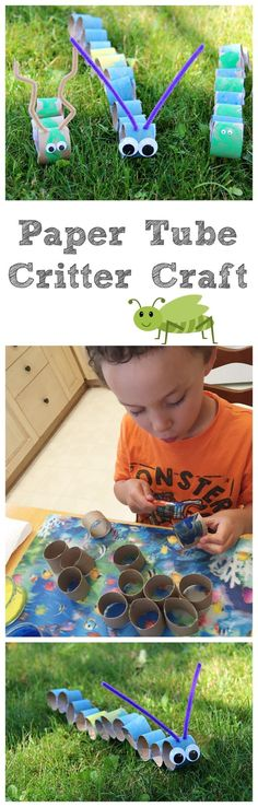 Paper Tube Critter Craft - Family Food And Travel