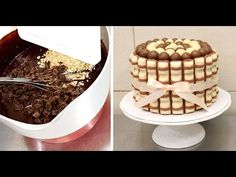 Kinder Brownie Cake by CakesStepbyStep - YouTube