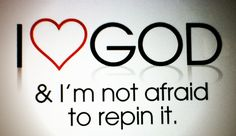I Love God! I accepted him as my savior and I'm saved