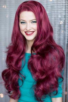 £31.99 Red 3/4 wig hairpiece (half wig), big loose curls: Marie : Red Half Wigs