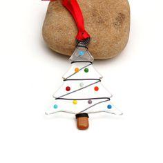 Fused+Glass+Christmas+Tree+Ornament++Suncatcher+by+buffaloartglass,+$15.00