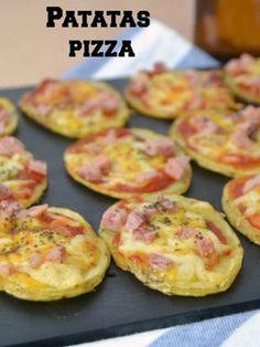 Patatas pizza potato al horno asadas fritas recetas diet diet plan diet recipes recipes Papa Pizza, Tapas, Kitchen Recipes, Cooking Recipes, Kids Meals, Easy Meals, Vegetarian Recipes, Healthy Recipes, Good Food